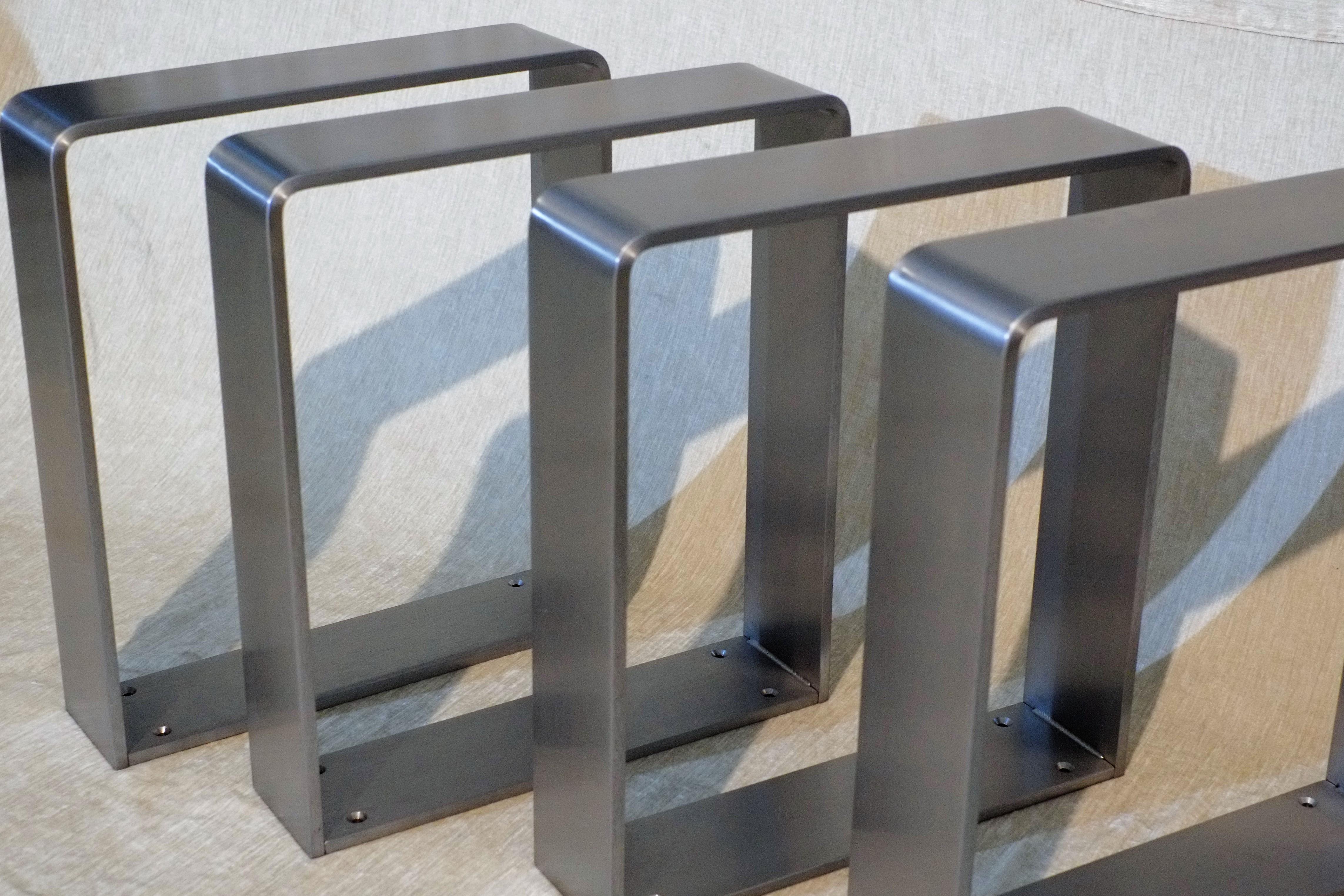 stahl tischkufen edelstahl metallbau stelzer On tischkufen edelstahl