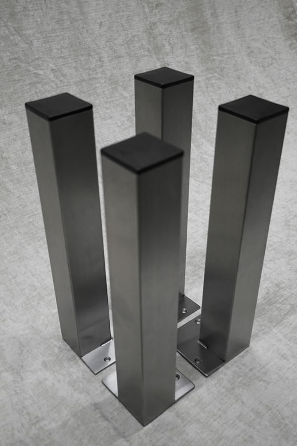 Tischsäule 60x60 Anschraubplatte bündig
