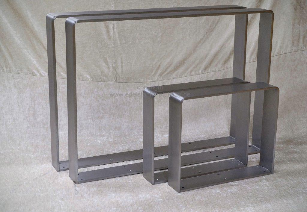Tischkufen Edelstahl Flachstahl 100x12