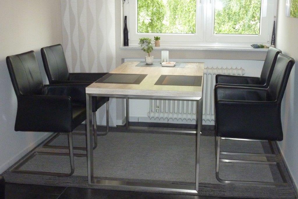Kufentisch Edelstahl 80x20