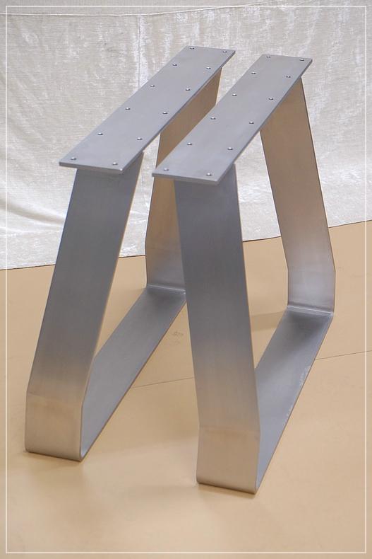 Tischbein Edelstahl 120x10