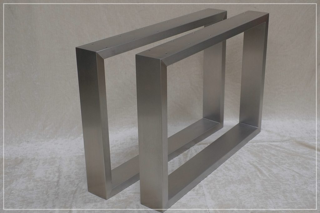 Tischgestell Edelstahl 120x40