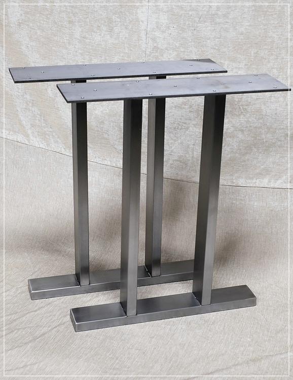 Tischkufen Edelstahl 80x20