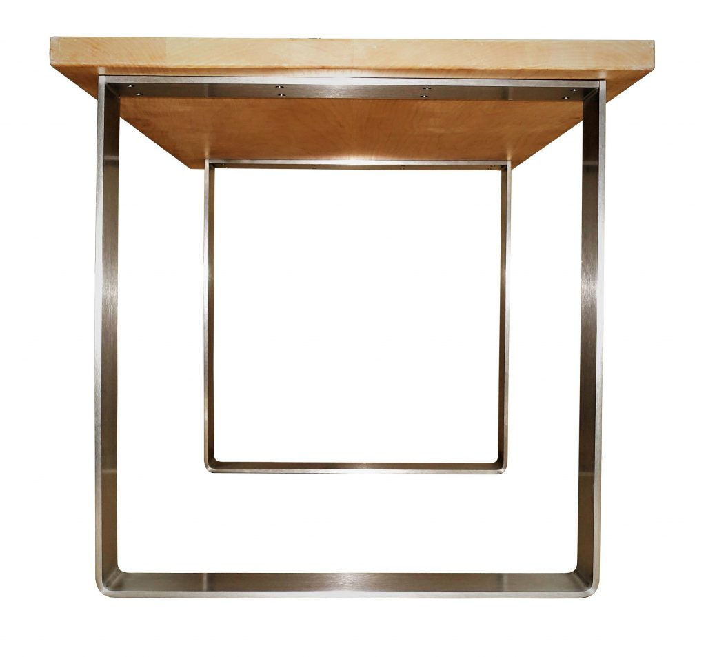 Tischgestell Edelstahl 100x10