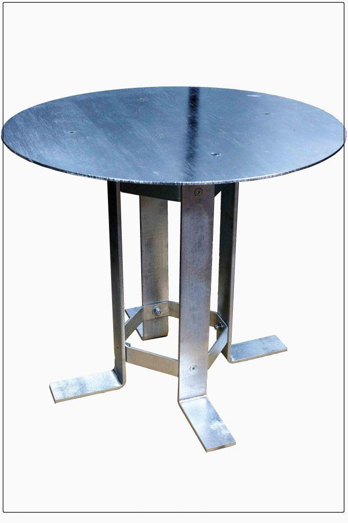Gartentischgestell für Steinplatten